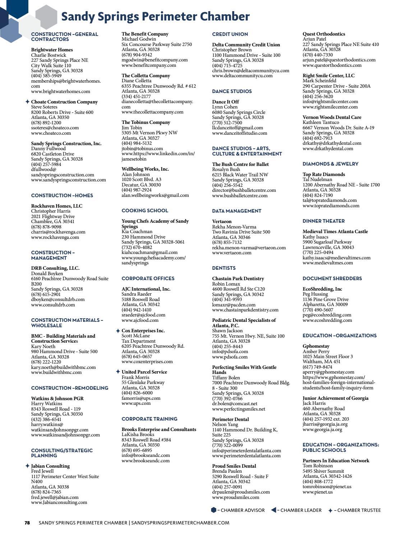 Sandy Springs Perimeter Chamber Guide & Membership Directory 2017