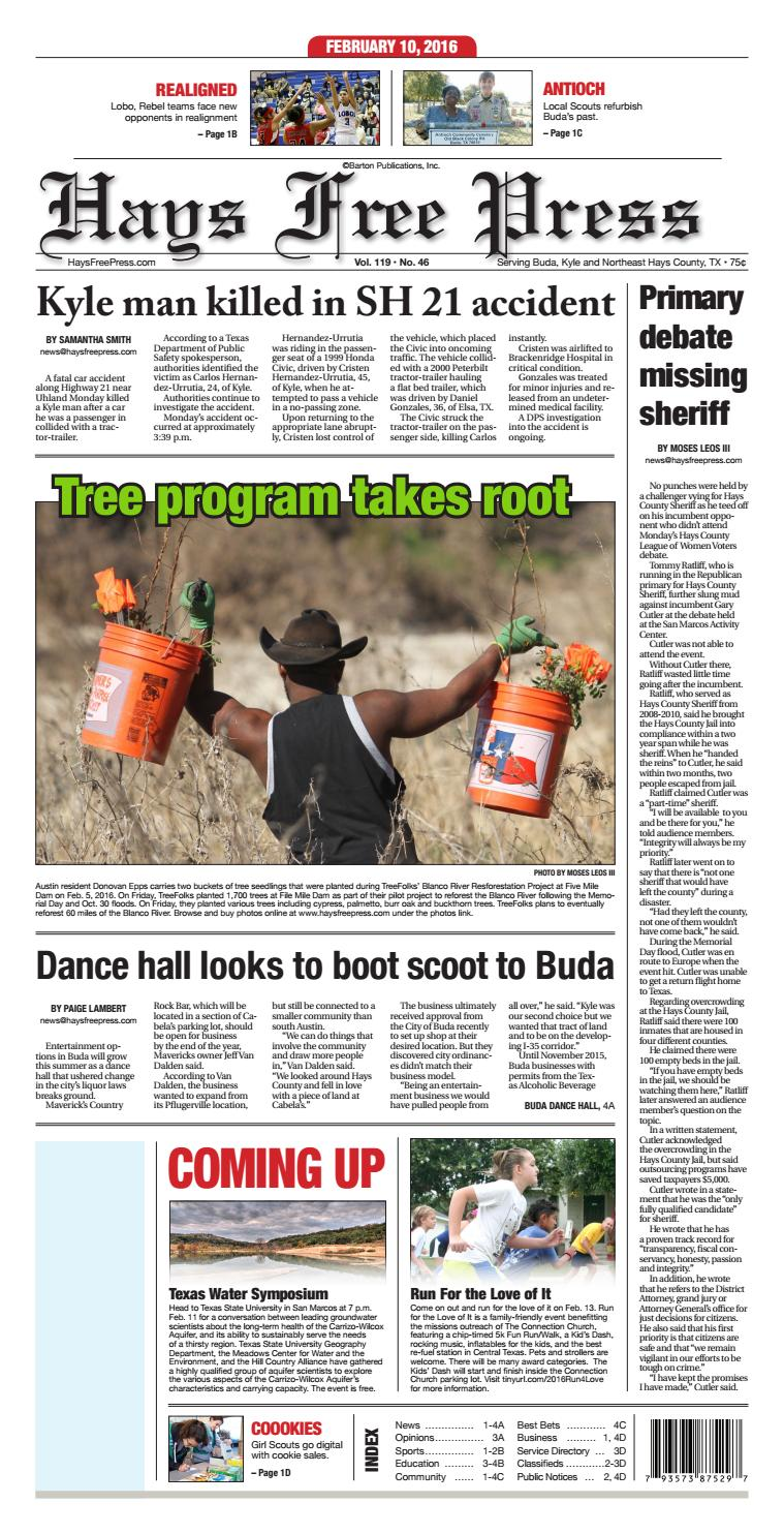 Feb  10, 2016 Hays Free Press by Hays Free Press/News