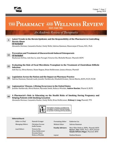 Pharmacy and wellness Review January 2017 by ONU Communications ...