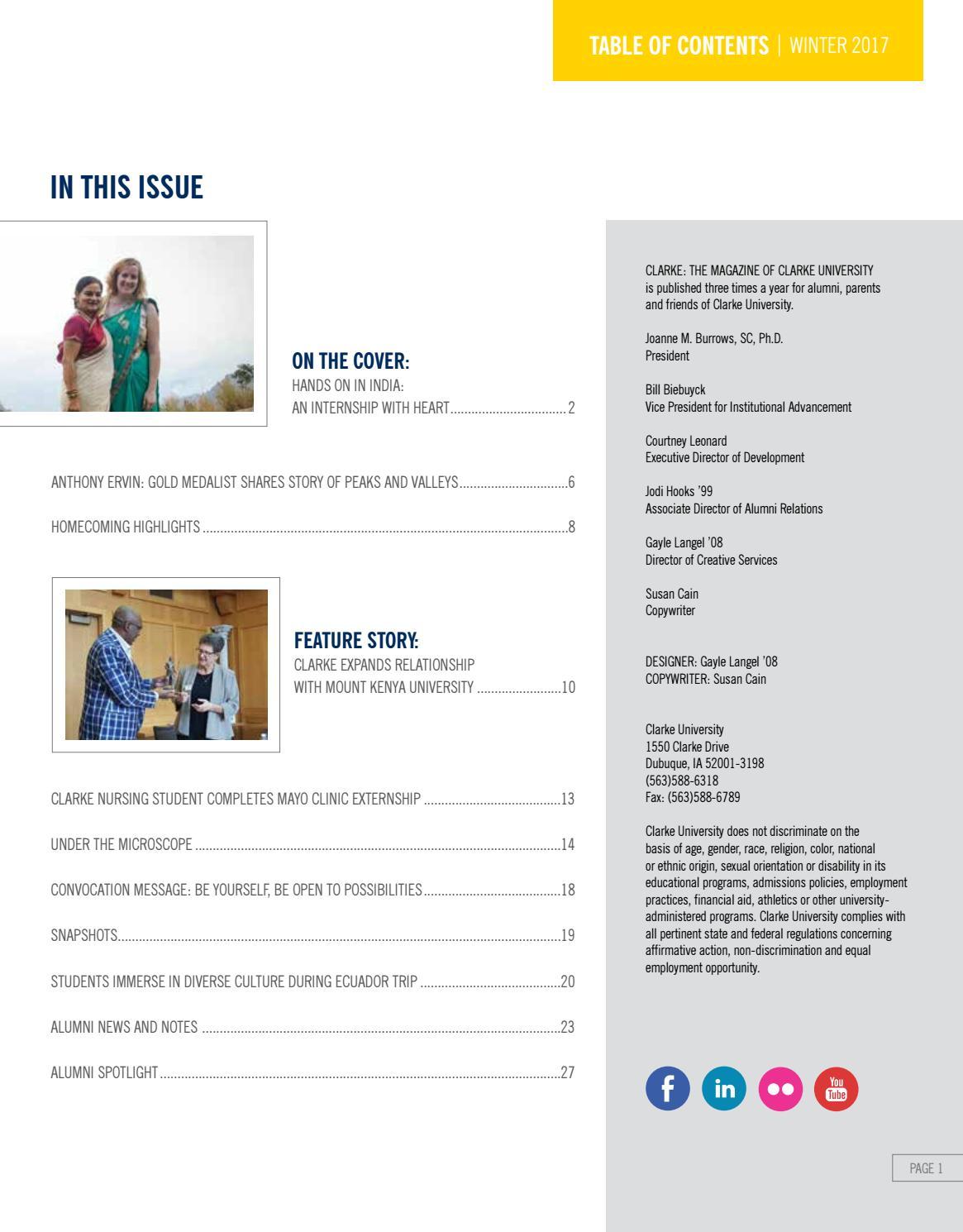 Clarke University Magazine