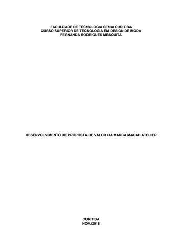 Fernanda Mesquita - Desenvolvimento de proposta de valor da marca ... 4c7d94f3c8