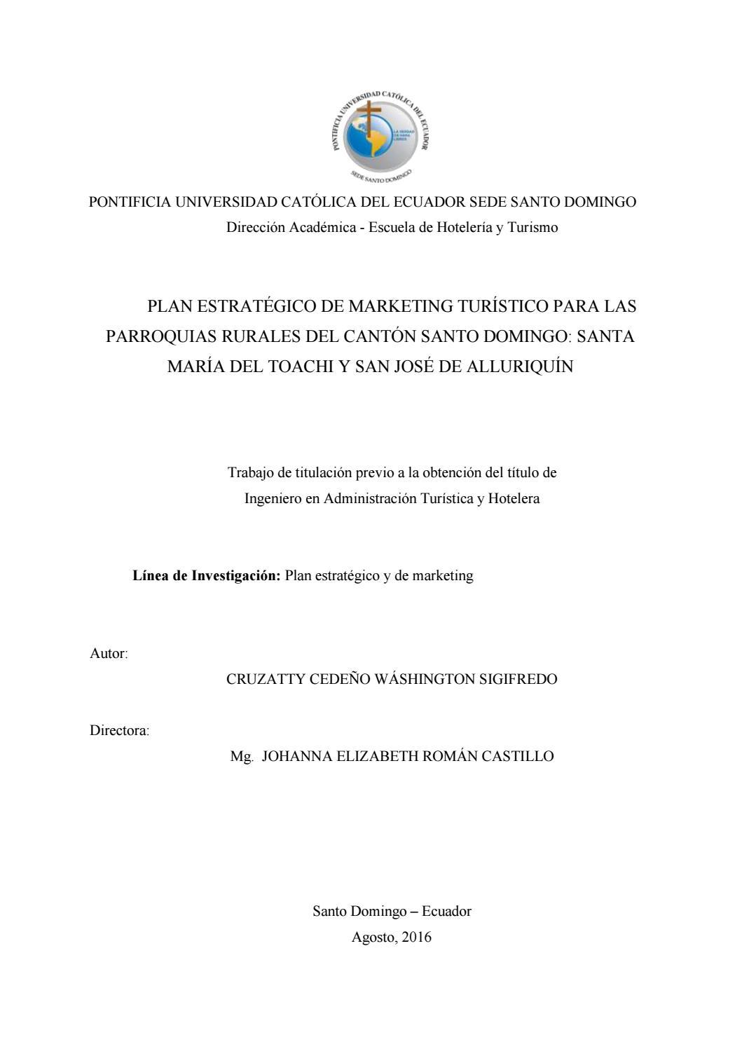 Plan estratégico de marketing turístico para las parroquias rurales ...