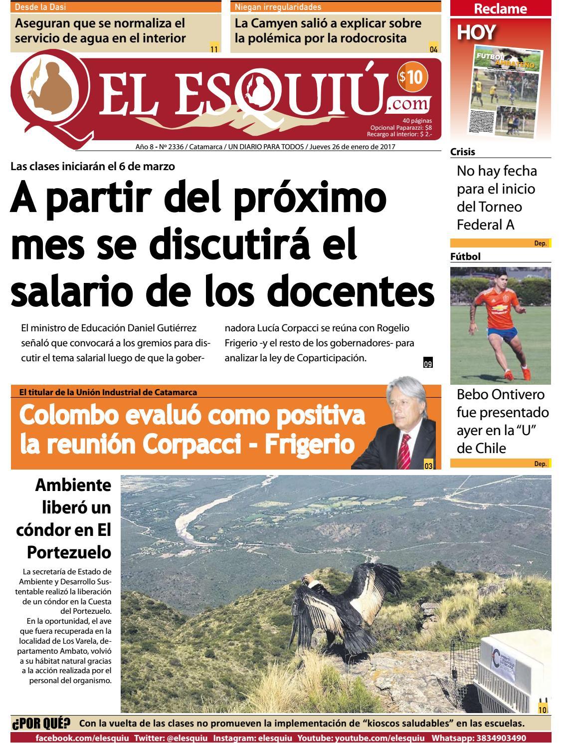 El Esquiu Com Jueves 26 De Enero De 2017 By Editorial El Esqui  # Muebles Tamara Fox Rancagua