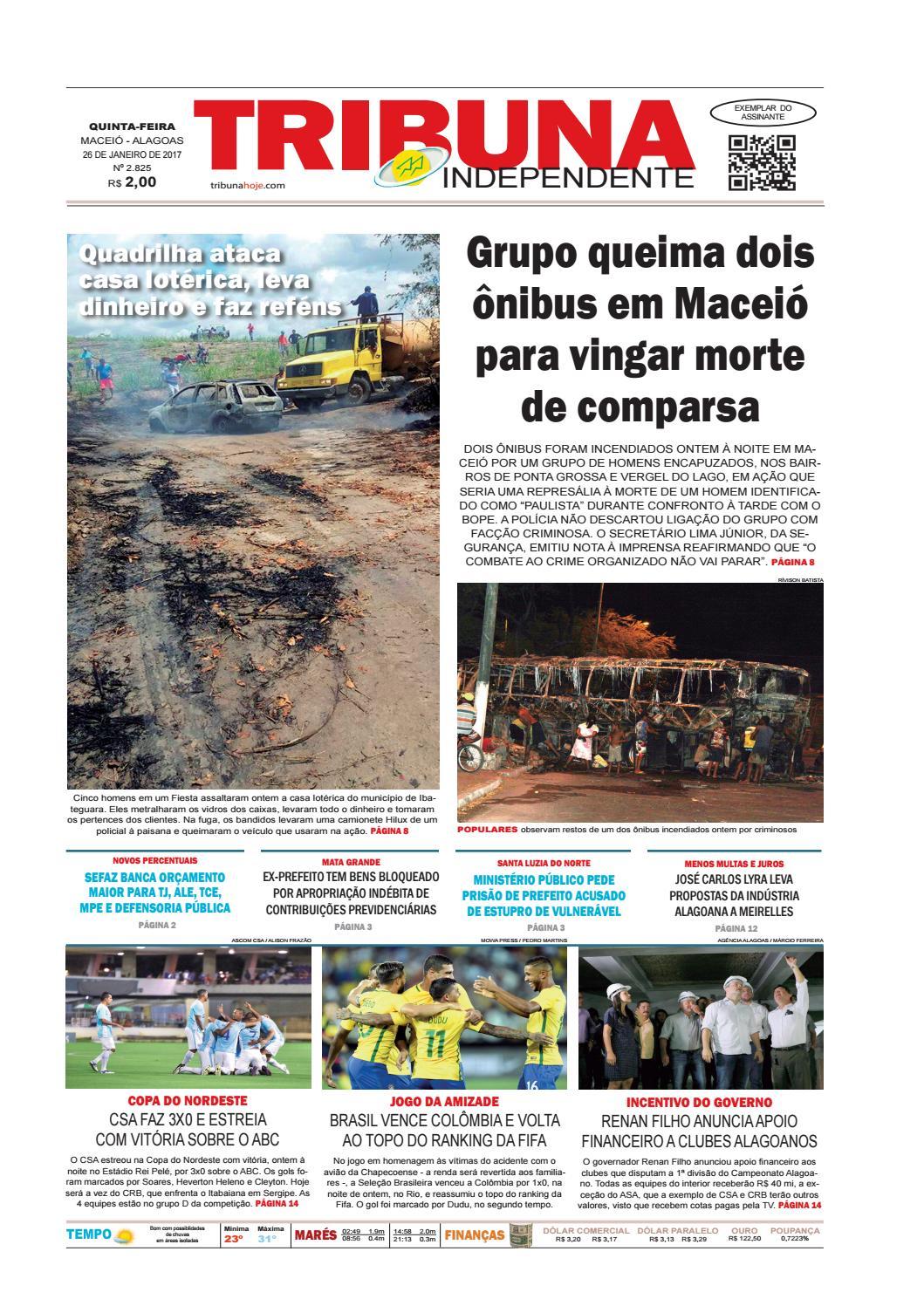 e8a91e84ac317 Edição número 2825 - 26 de janeiro de 2017 by Tribuna Hoje - issuu
