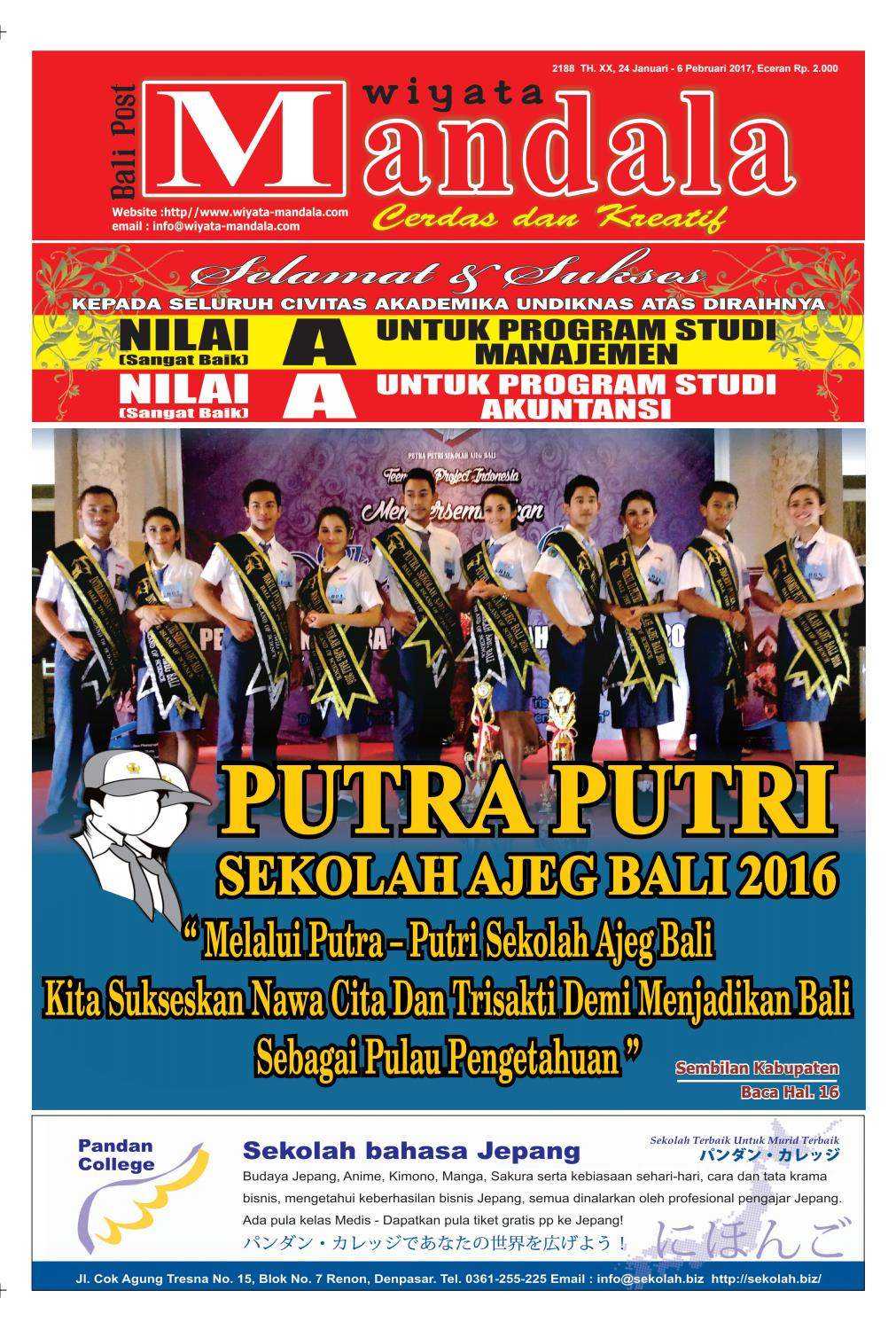Edisi 24 Januari 2017 Wiyata Mandala By Wiyata Mandala Issuu