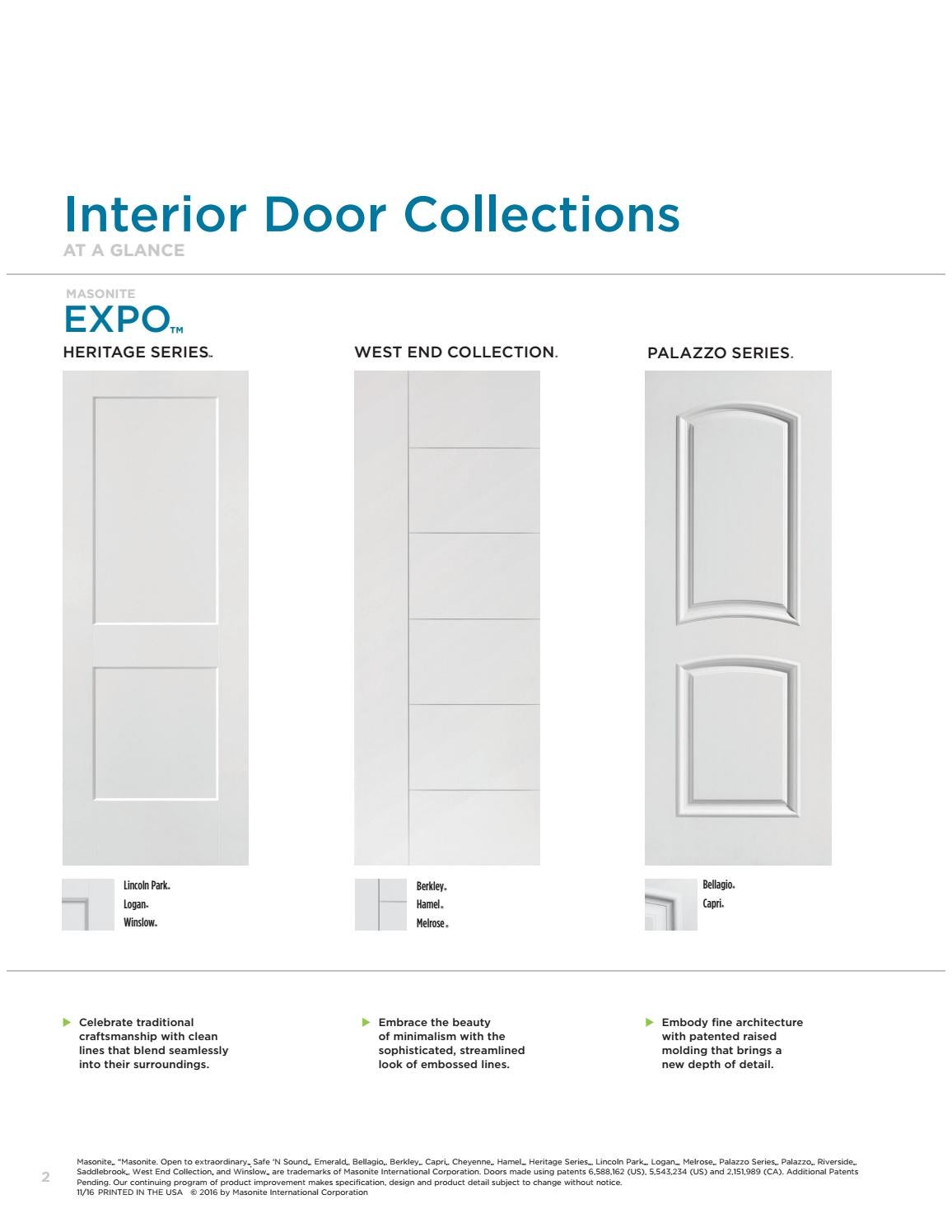 Masonite Molded Interior Doors By Horner Millwork Issuu