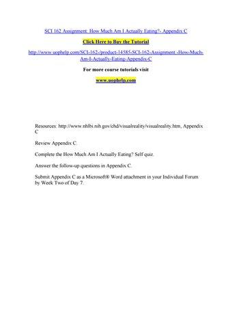 appendix assignment
