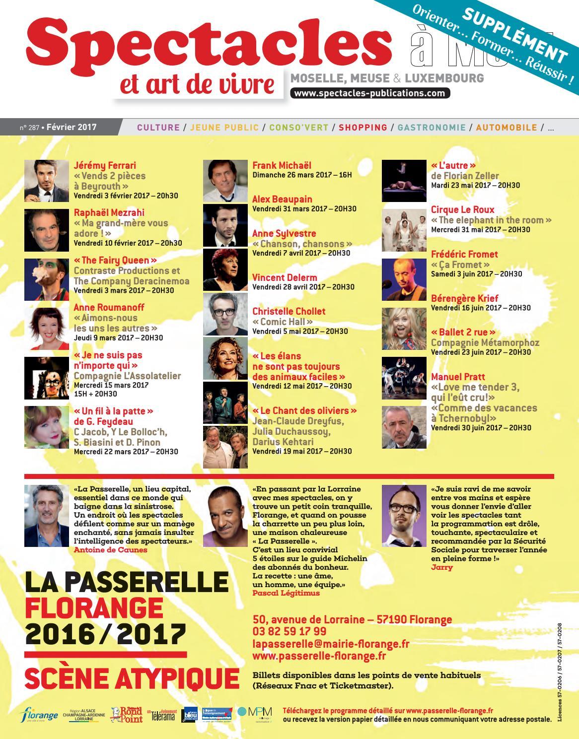 By N°287 Spectacles Février 2017 Metz Publications c35RqL4Aj