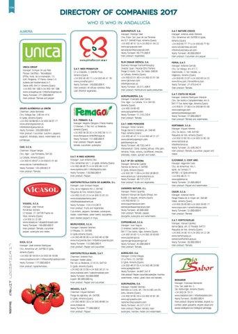 ed0ae79510 Directorio de Empresas Hortofrutícolas 2017 by Revista Mercados - issuu