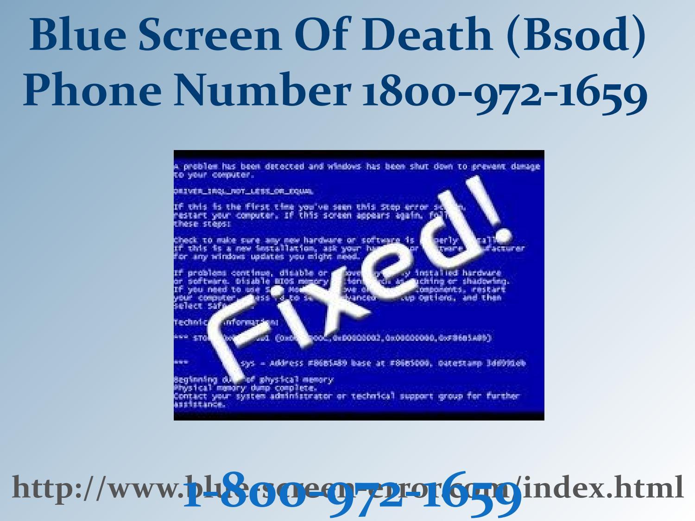 Blue Screen Error Codes Windows 7 Number 1-800 by Elizabeth