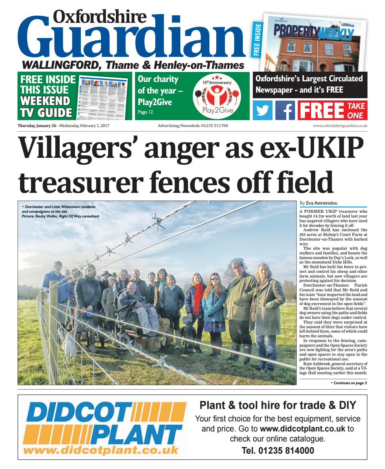 26 January 2017 Guardian Wallingford By Taylor Newspapers Issuu