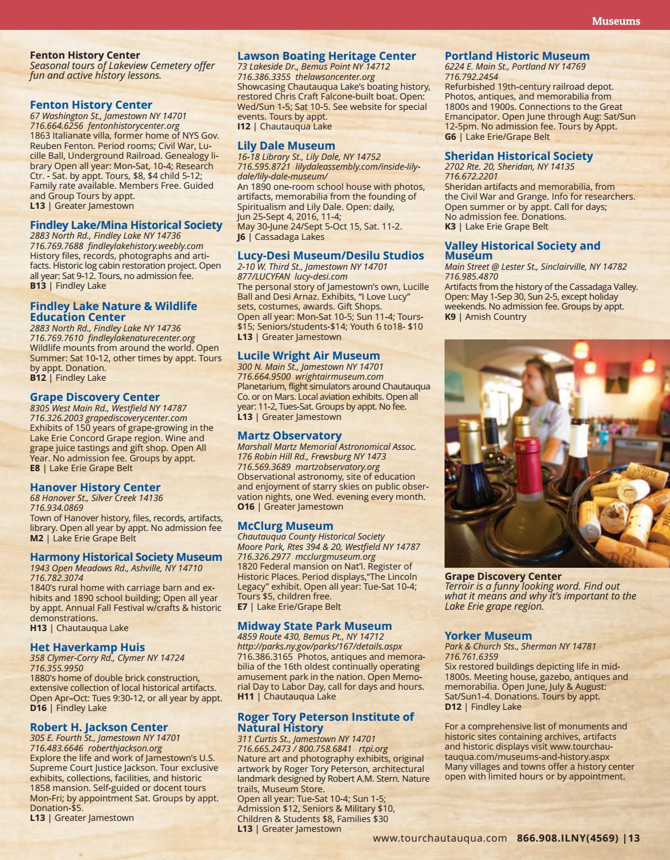 2017 Chautauqua County Travel Guide By SB Marketing LLC