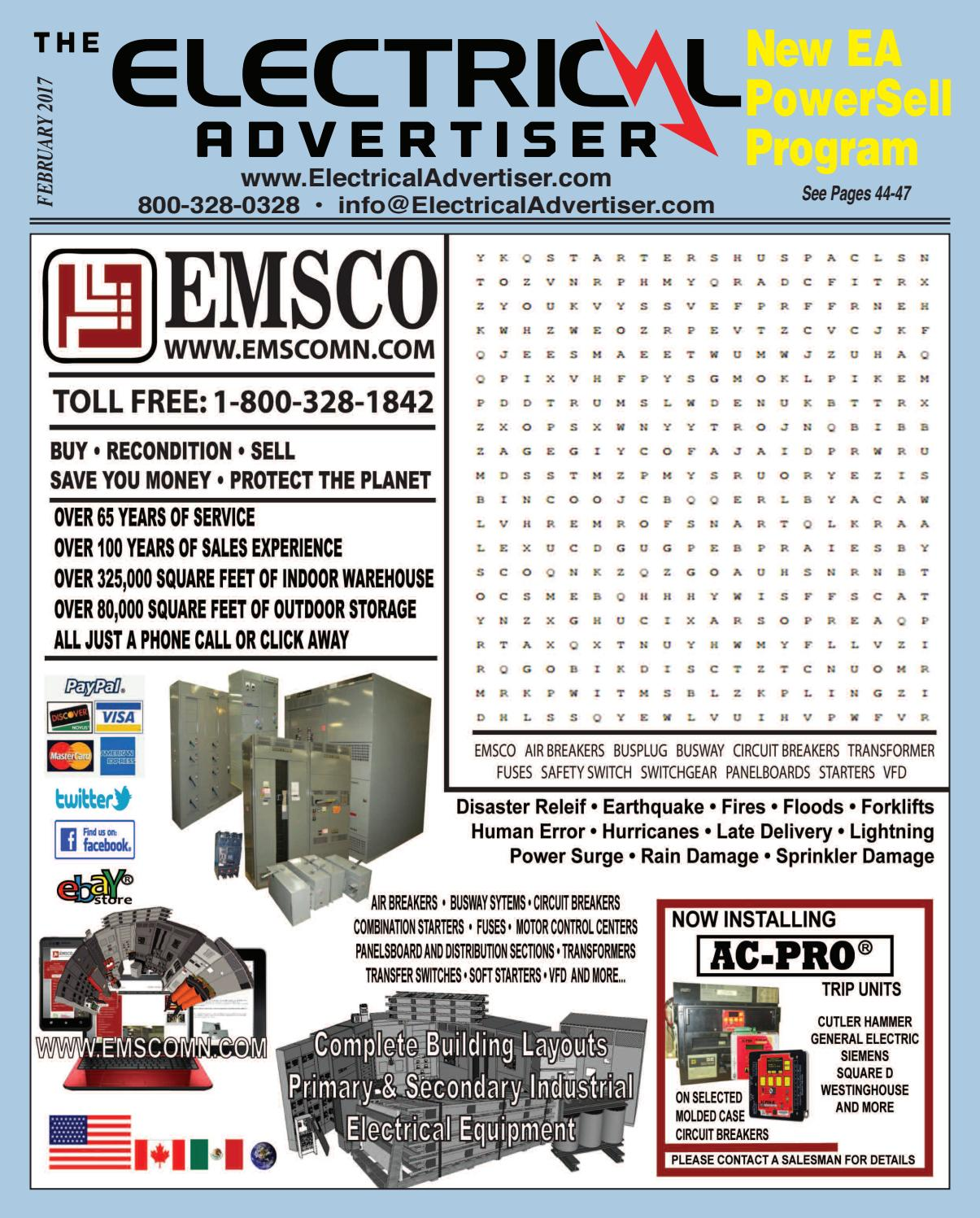 electrical advertiser february 2017 by electrical advertiser issuuGe 8000 Line Motor Control 600 A 480 V 3 Ph 3 Wire 60 Hz Ebay #15