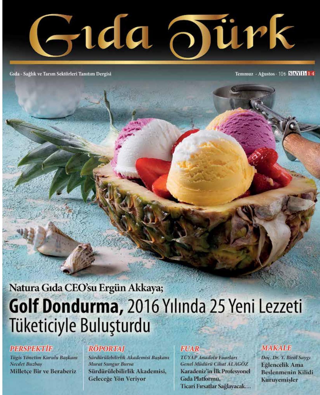 Temmuz Agustos 2016 By Gida Turk Dergisi Issuu