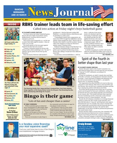 Rancho Bernardo News Journal 01 26 17 By MainStreet Media