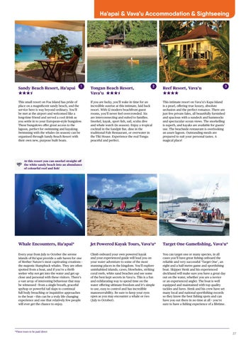 New caledonia niue norfolk island tonga brochure 2017 by house haapai vavau accommodation sightseeing sciox Images