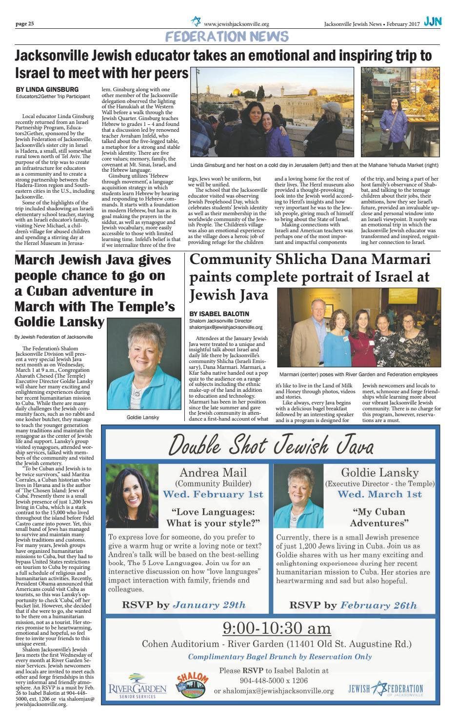Jacksonville Jewish News - February 2017