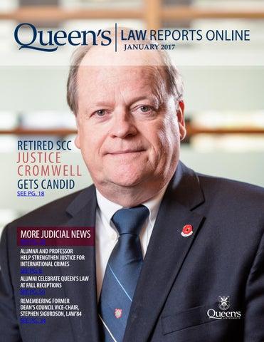 Demanding Justice For Paul Heenan >> Queen S Law Reports Online January 2017 By Queen S University