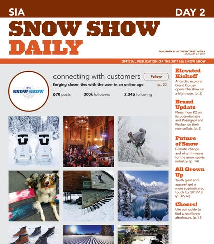 56ab17a8e4 SIA Snow Show 2017 Day 2 by Active Interest Media-Boulder - issuu