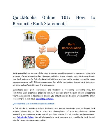 quickbooks online 101 how to reconcile bank statements by brilliant