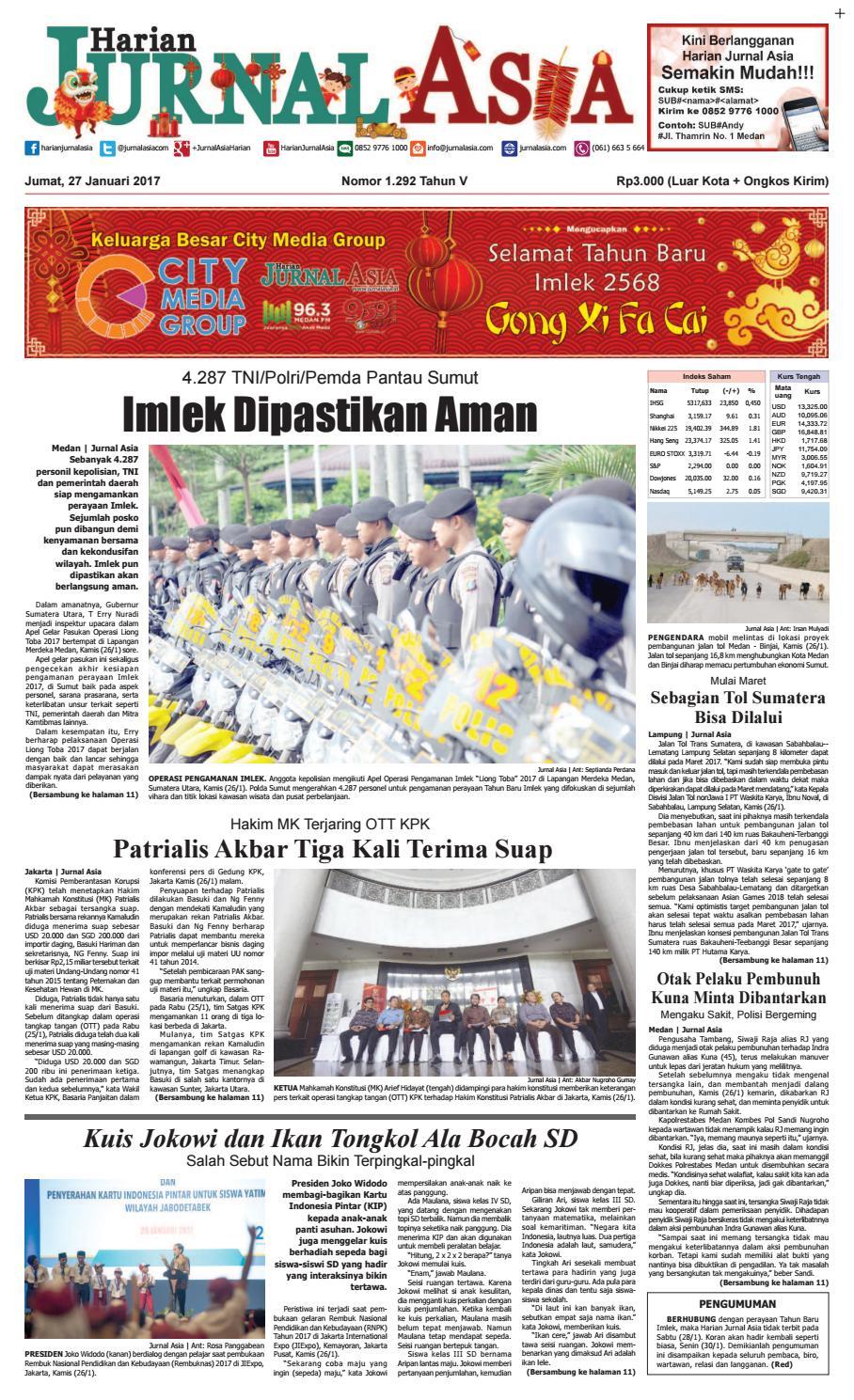 Harian Jurnal Asia Edisi Jumat 27 Januari 2017 By Produk Ukm Bumn Sambal Bawang Goreng Maklin Medan Issuu