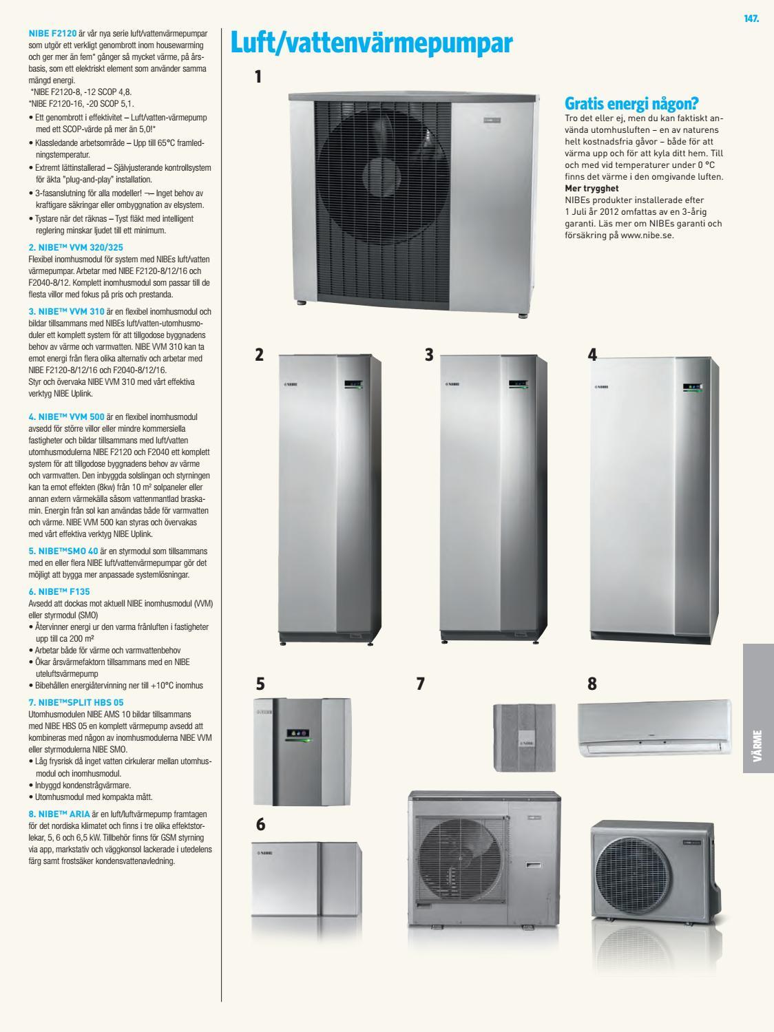 Inredning luft vatten värmepump pris : Bad värme katalog 2017 by Fridholm & Partners - issuu