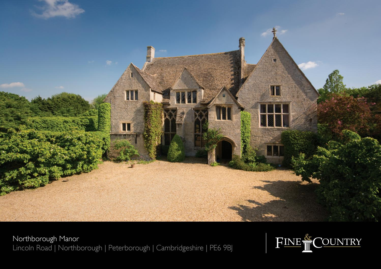 Eight bedroom main manor and a separate four bedroom gatehouse - Northborough Manor Peterborough Cambridgeshire By Fine Country Issuu