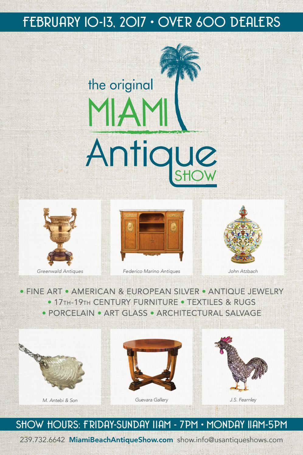 The Original Miami Antique Show 2017 directory by U.S. Antique ...