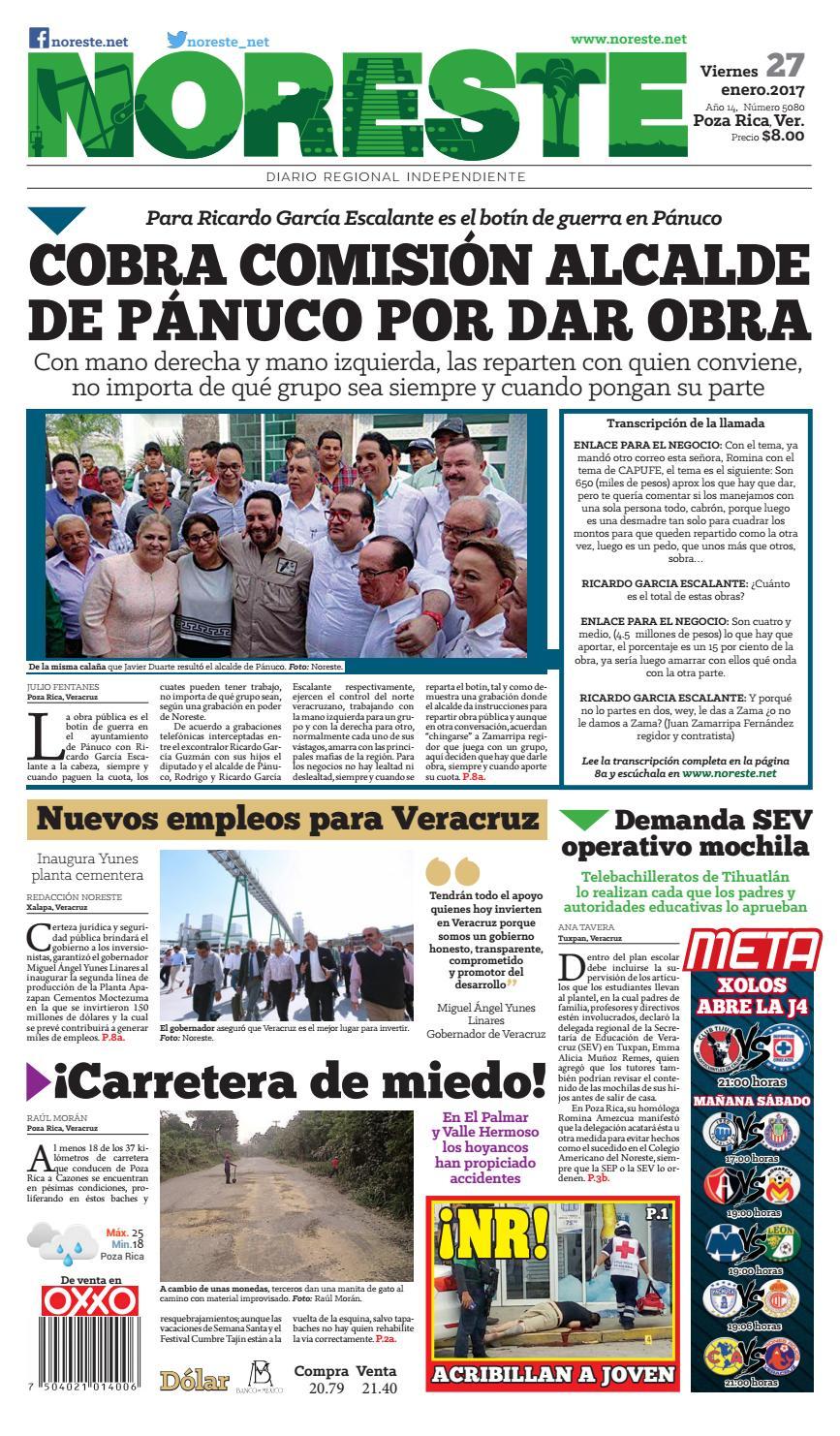 Versi N Impresa 27 De Enero De 2017 By Noreste Diario Regional  # Cota Muebles Teziutlan