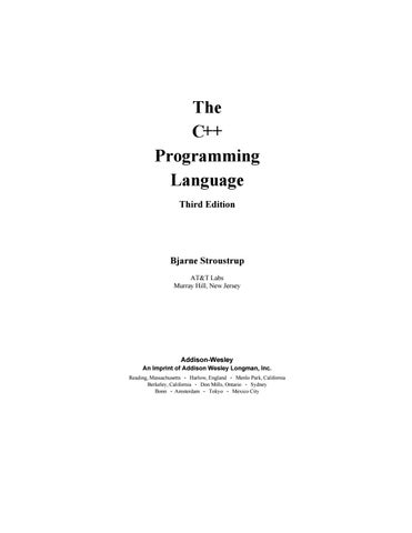 bjarne stroustrup] the c programming language part1 by Med Mes - issuu