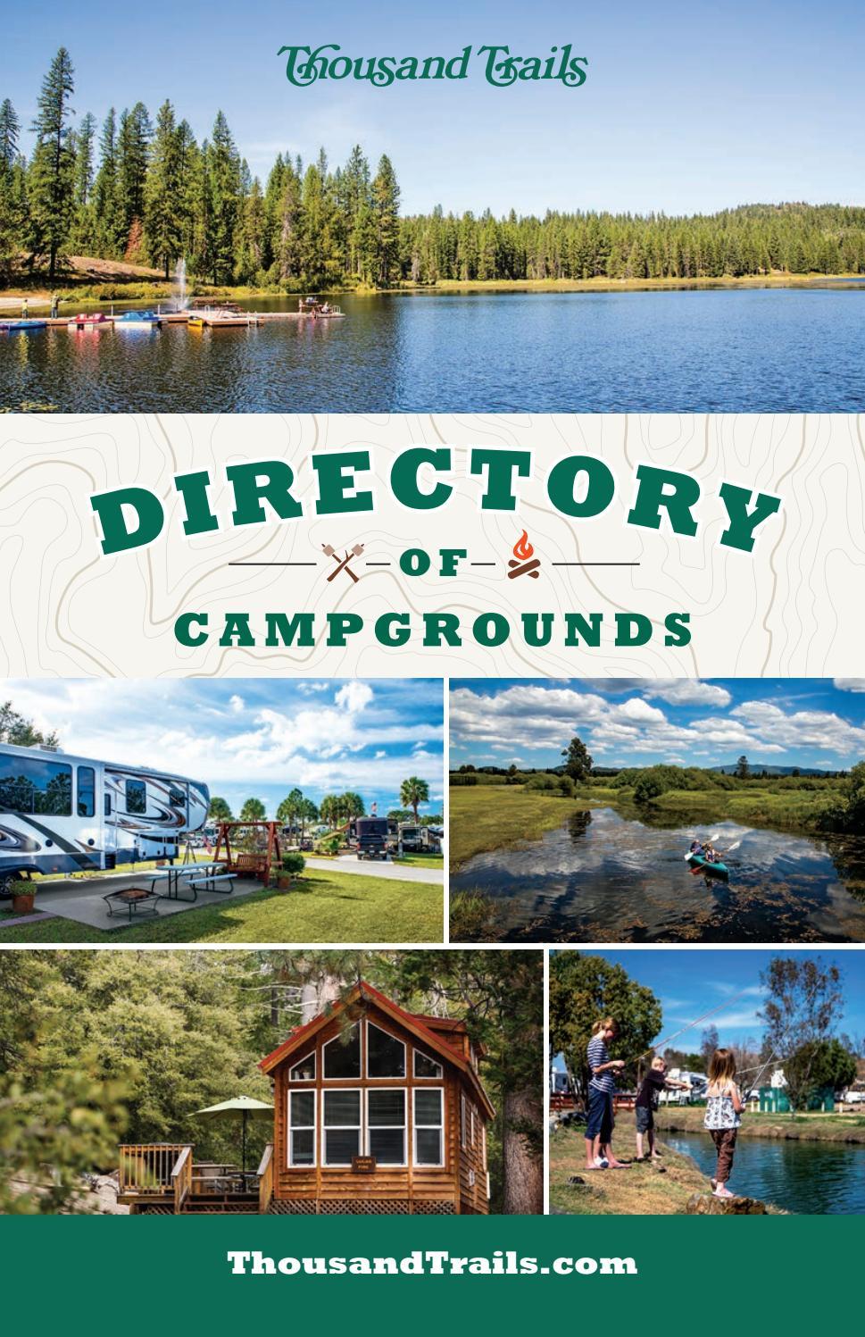 Thousand Trails Directory by TrailBlazer Magazine - Issuu
