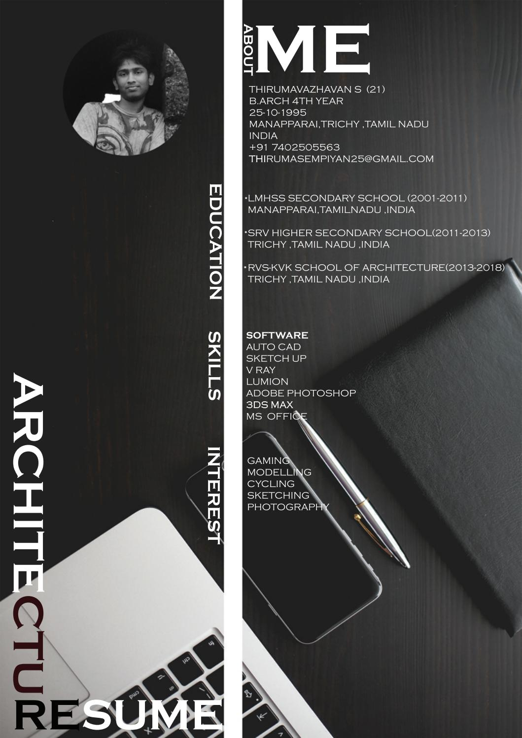 architecture internship resume by thiruma sempiyan
