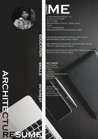 Architecture Internship Resume By Thiruma Sempiyan Issuu