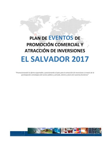 Plan De Eventos El Salvador 2017 By Ministerio De Relaciones