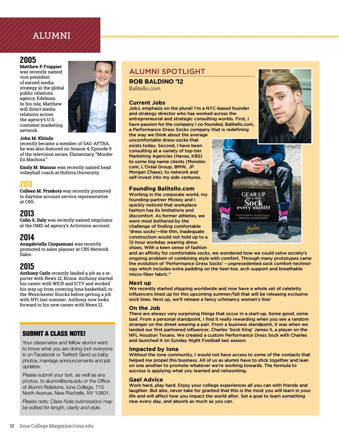 Iona College Magazine Summer 2016 by Iona College - issuu