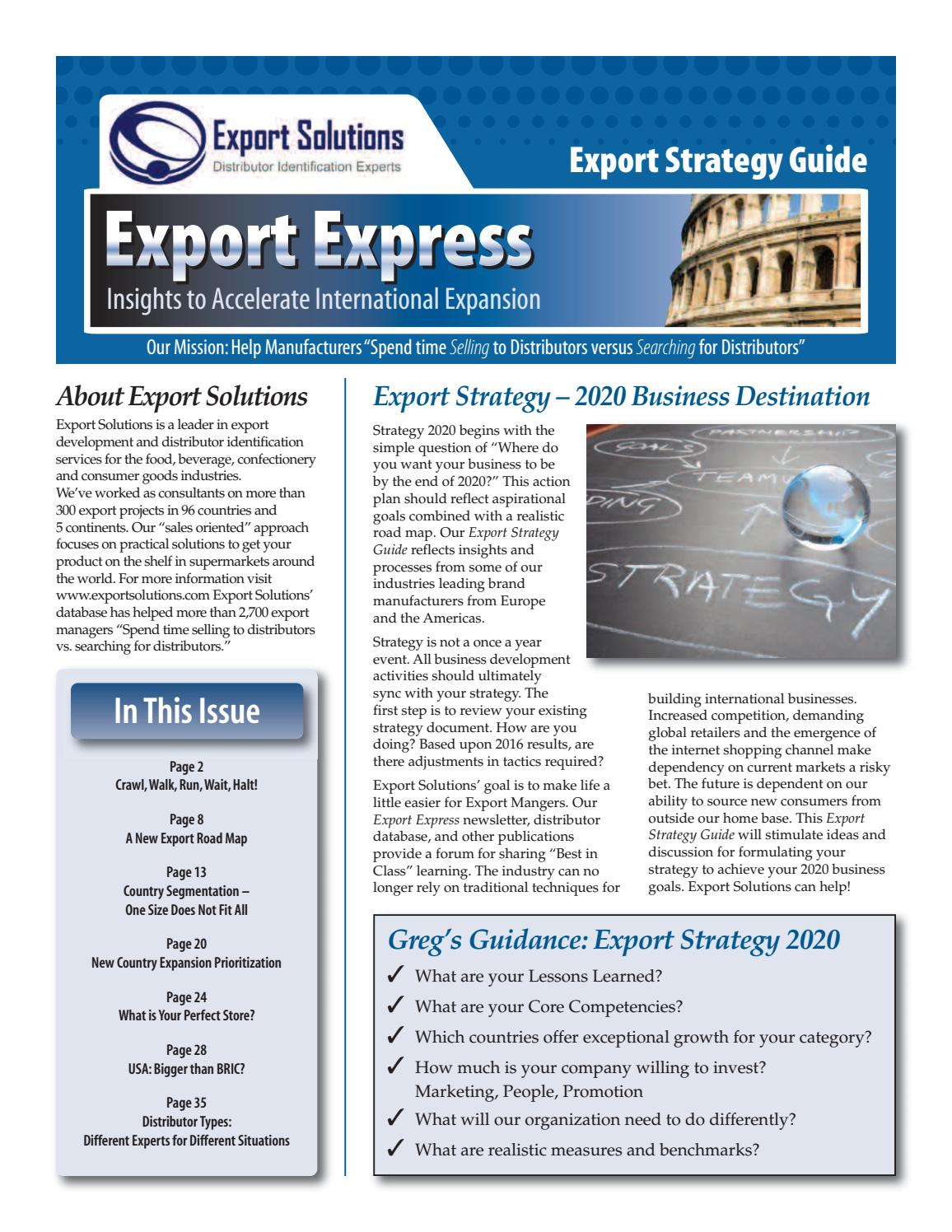 Export Strategy Guide 2017 by Gregory Seminara - issuu