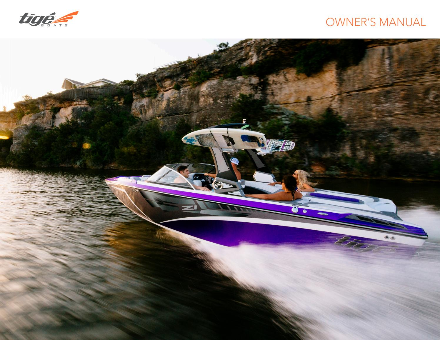 2017 Tige Owners Manual By Boats Issuu To Boat Builders And Recreational Typical Wiring Diagram