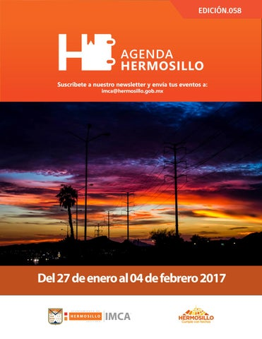 "Cover of ""Agenda Hermosillo 27 enero 2017"""