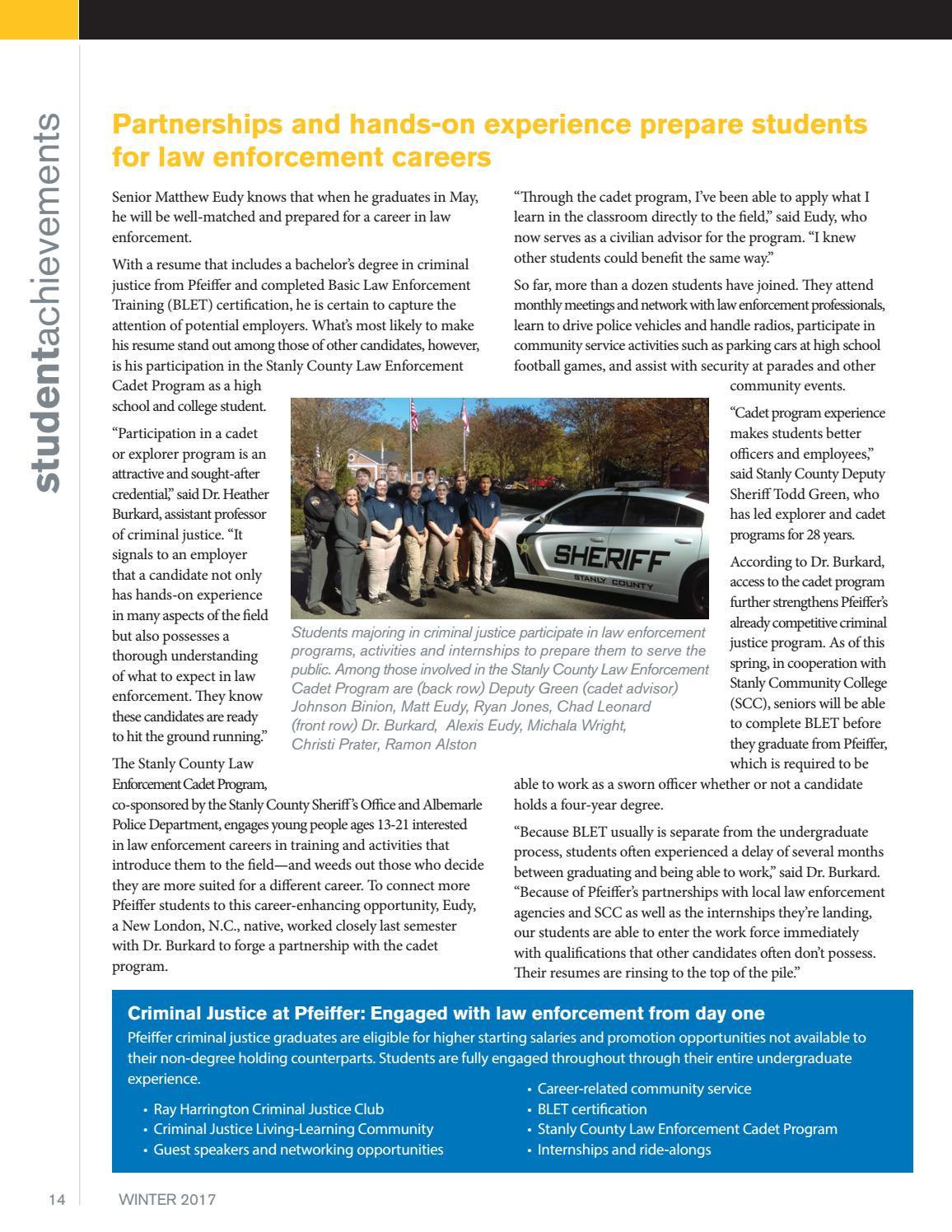 Pfeiffer Alumni Magazine 2016 By Pfeiffer University Marketing
