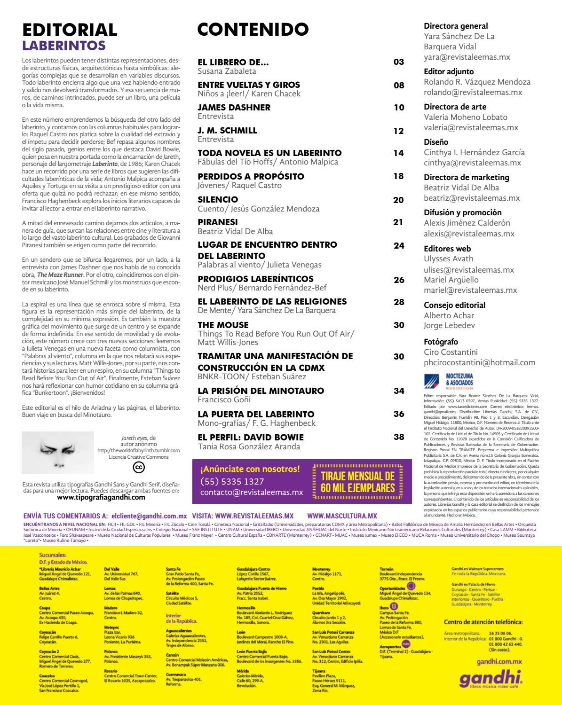 0b978f3bb 93_Laberintos_17 by Revista Lee+ de Librerías Gandhi - issuu