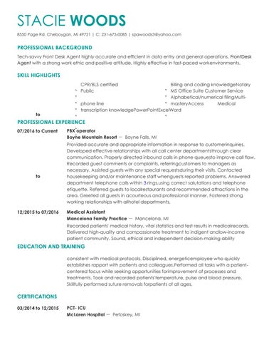 stacie woods resume 1 by stacie woods issuu