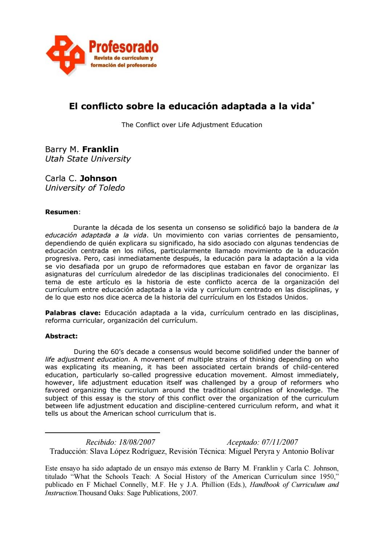 Franklineducación adaptadaalavida (1) by Zayuri - issuu