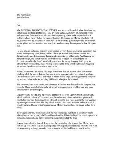 John Grisham: 'The rainmaker' by freeweb - issuu