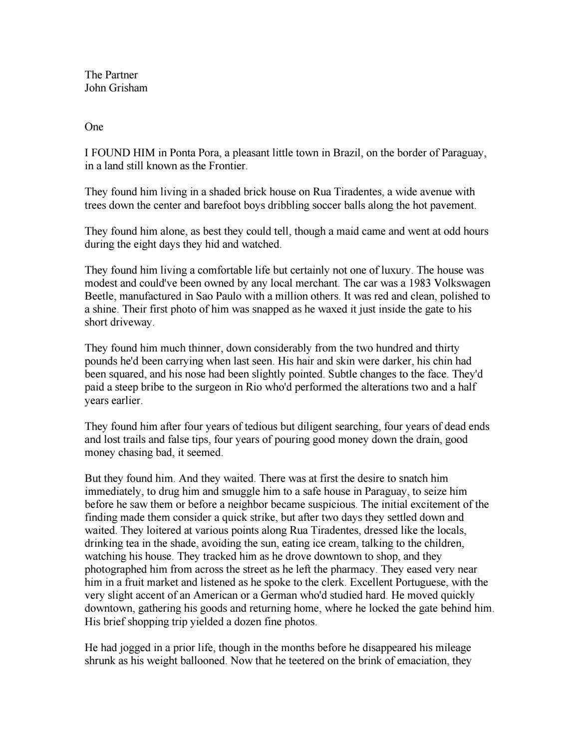 26e859062206 John Grisham: 'The partner' by freeweb - issuu
