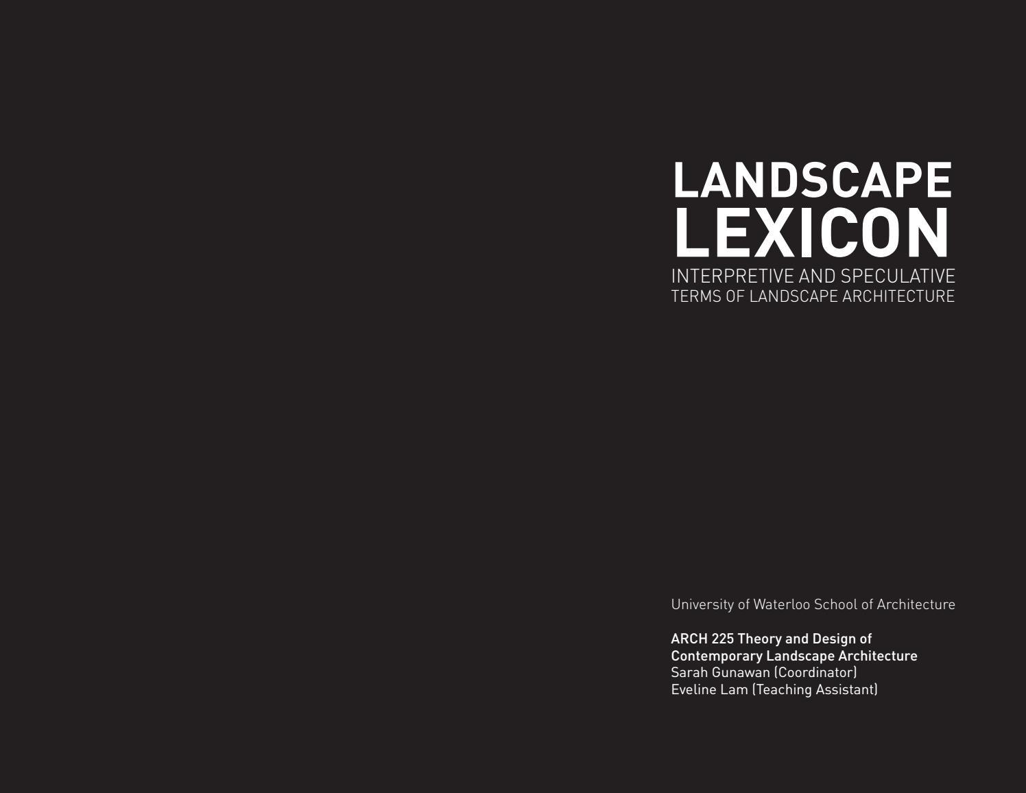 Landscape Lexicon by Sarah Gunawan - issuu