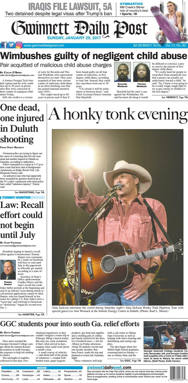 Gwinnett Daily Post — January 29 f72c325897e