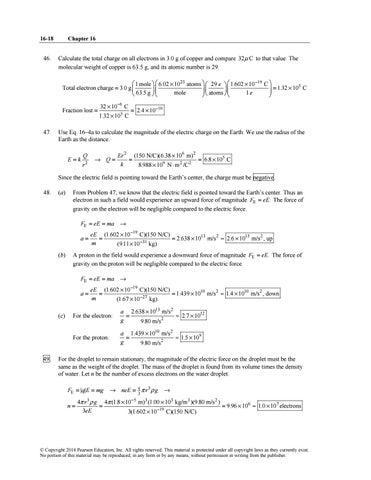 Instructor S Solution Manuals To Physics Principles With