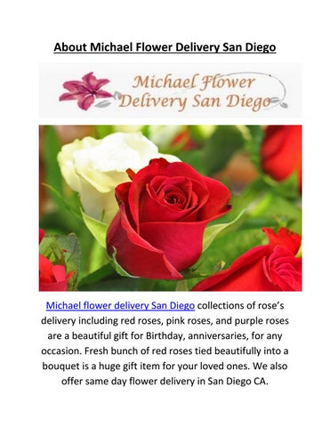 Page 1 About Michael Flower Delivery San Diego