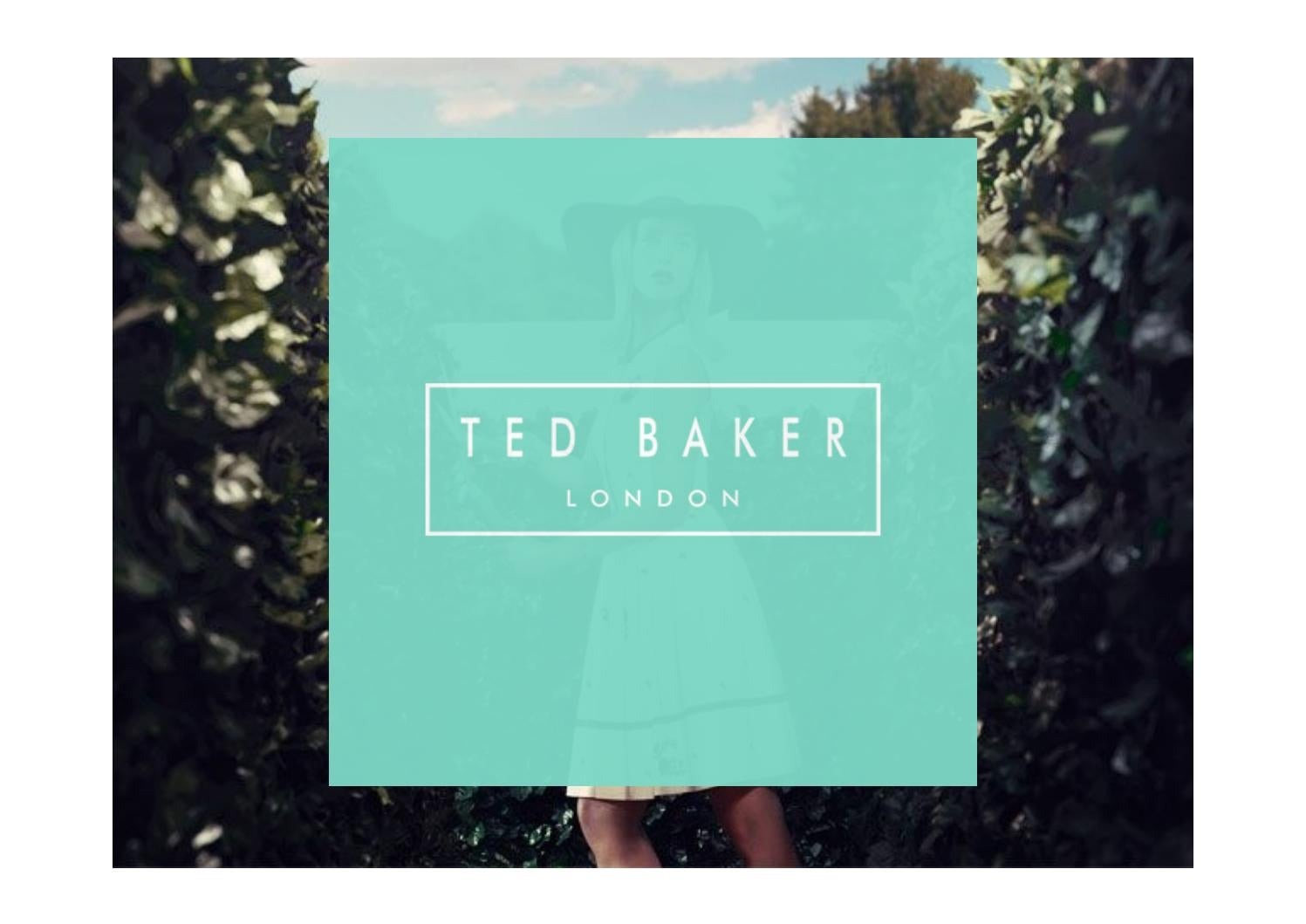 2862eea825d9 Ted Baker Brand analysis Identity Target Customer by rongfu1998 - issuu