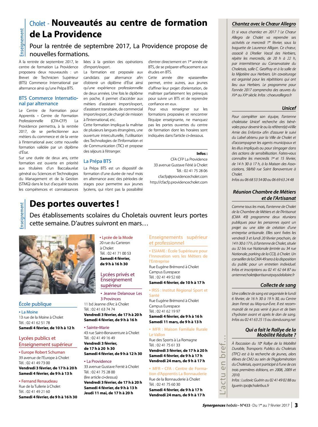 synergences hebdo n°433 by agglomération du choletais - issuu